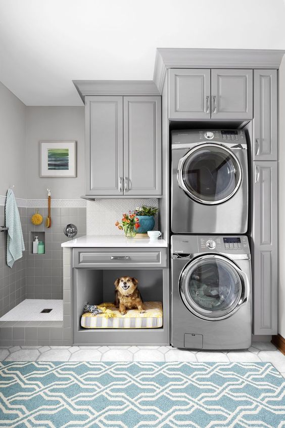 Laundry room with cupboards and dog Home Loan bond originator specialist bank home loans best interest rates